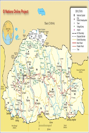 Map of Buthan