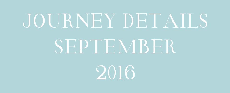 Journey details september 2016